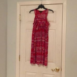 Summer dress with gathered bodice